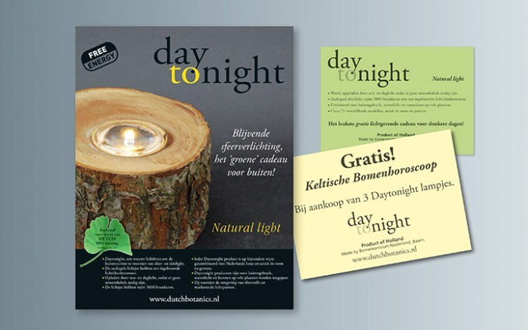 DAY TONIGHT LAMPJES ADVERTENTIE FOLDER